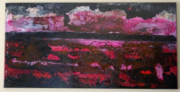 Freedom 11, Acrylic paint and varnish on canvas 100cms x 50cms