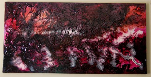 Freedom 9 Acrylic paint and varnish on canvas 100cms x 50cms